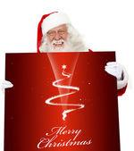 サンタとクリスマス ポスター — ストック写真