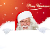 Santa Claus with banner — Foto Stock