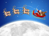 Santa in his sled — Stock Photo
