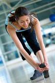 Gym stretches — Foto Stock