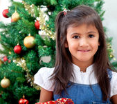 Girl in christmas — Stock Photo