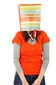 Donna con una shopping bag — Foto Stock