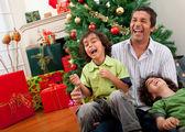 Christmas family portrait — Stock Photo