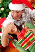 Christmas surprised — Stock Photo