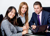 Young executives working — Stock Photo