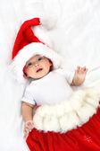 Christmas baby boy — Стоковое фото