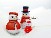 Snow family — Stock Photo