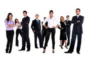 Fullbody business group — Stock Photo