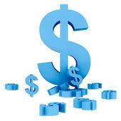 Dollar symbols isolated — Stock Photo