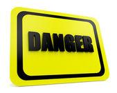 Danger sign 3d — Stock Photo
