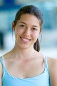 Gym woman portrait — Zdjęcie stockowe