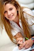 Schöne student — Stockfoto