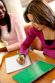 Female student writing — Stock Photo