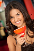 在酒吧的女人 — 图库照片