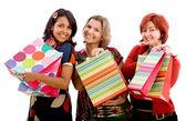 Mujeres felices compras — Foto de Stock