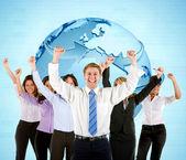 Successful worldwide business — Stock Photo