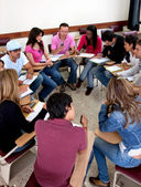 Students on the classroom — Stock Photo