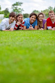 Group of friends outdoors — Stock Photo