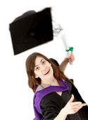 Graduation woman isolated — Stock Photo