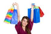 Shopping kvinna isolerade — Stockfoto