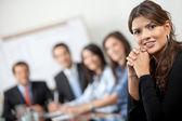 Biznes kobieta na spotkaniu — Zdjęcie stockowe