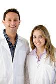 молодые врачи изолированные — Стоковое фото