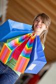 Beautiful shopping woman — Photo