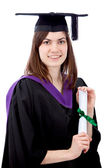 Female graduate portrait — Stock Photo