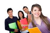 Glückliche gruppe von studenten — Stockfoto