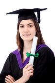 Retrato de mujer de graduación — Foto de Stock