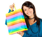 Shopping woman portrait — Stock Photo