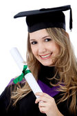 Graduated woman — Stock Photo