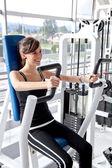 Kvinna göra övningar — Stockfoto