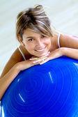 Pilates female portrait — Stock Photo