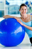 Gym woman — Stock Photo