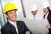 Male engineer in business suit — Stock Photo