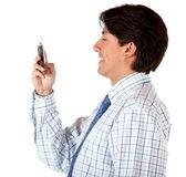 Business man texting — Stock Photo