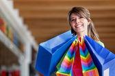 женщина с сумки — Стоковое фото