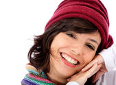 Cute winter woman — Stock Photo