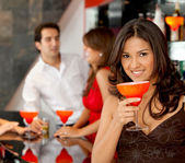 Party woman — Stock Photo