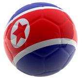 3d-noord-korea voetbal — Stockfoto