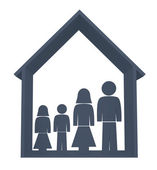Family illustration — Stock Photo