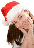 Beautiful female santa claus portrait — Stock Photo