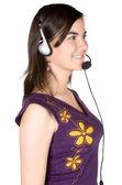 Customer Support Girl — Stock Photo