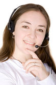 Customer sevice woman — Stock Photo