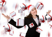 Business christmas bonus — Стоковое фото