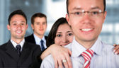 Business team - young entrepreneurs — Stock Photo
