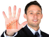 Business growth at the palm of your hand — Stock Photo