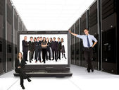 Business online network team — Stock Photo