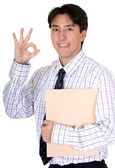 Business man - good job — Stock Photo